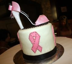 Breast Cancer Pink Shoe cake