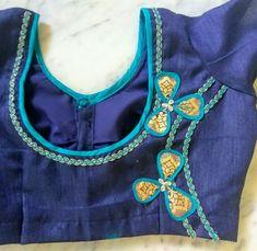 New Saree Blouse Designs, Simple Blouse Designs, Blouse Back Neck Designs, Saree Blouse Patterns, Blouse Styles, Sari Design, Kids Lehenga, Blouse Models, Kurtis