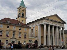 19TH CENTURY, Neo-Classicism, Germany - Friedrich Weinbrenner (1766-1826): Stadtkirche, Karlsruhe, 1816