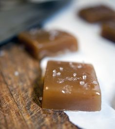 Salted Microwave Caramels-made these for dessert tonight.  It was so easy to make and yummy as well.  I could see sprinkling dark chocolate chips on top while the caramel is hot and having chocolate coated candies.  They would make a great holiday gift or host gift if you are invited to a party.