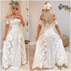 Spanish style – Mediterranean Home Decor Casual Dresses, Fashion Dresses, Prom Dresses, Formal Dresses, Wedding Dresses, White Outfits, Beautiful Gowns, Types Of Fashion Styles, Crochet Clothes