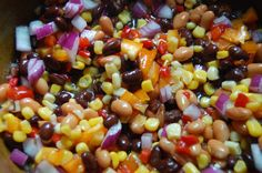 Texas Caviar - A sweet, tart, yummy party dip that pairs deliciously with salty tortilla chips!