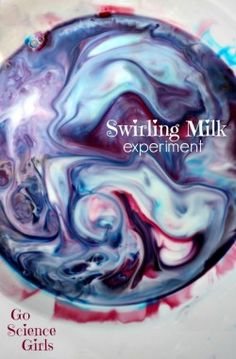 Swirling Milk Experiment by Go Science Girls