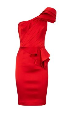65c5d30ebede Dress of the Day  Red one-shoulder signature dress from Karen Millen    Women s Fashion Police
