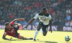 Victor Wanyama v Bournemouth. Spurs won 4-0. 15/04/17