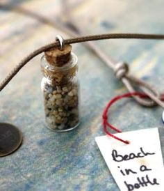 Beach in a tiny bottle and other memory keeping ideas with sand from your favorite beach!