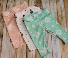 DIY baby leggings with free pattern.