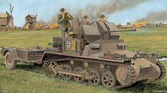 Panzer I converted to carry 20mm FlaK.