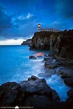 Neist Point Lighthouse , Isle of Skye, Scotland