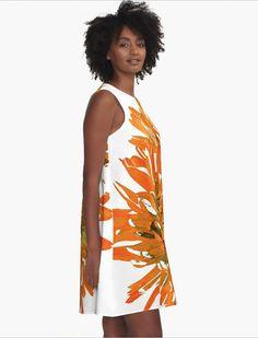 Light Sleeveless Shift Beach Cover Up Flower Pattern Aline Dress Women/'s Tunic Dress XS S M L XL 2XL Painted Floral Print Summer Dress