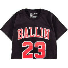Ballin Crop Tee (260730 PYG) ❤ liked on Polyvore featuring tops, t-shirts, crop tops, shirts, short sleeve crew neck t shirt, crop top, tee-shirt, crewneck t shirt and short sleeve shirts