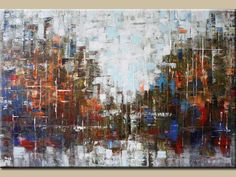 original abstract painting  acrylic painting by artbyoak1 on Etsy, $275.00