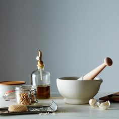 Modern sensibility to an old-fashioned favorite tool #mortar #pestle #oldfashioned