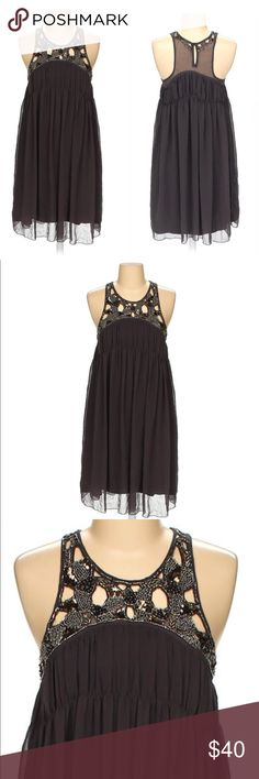 ZARA Grey Rhinestone Casual Dress Size S Gently used - excellent condition - Material: Polyester - Good For all seasons Zara Dresses Midi