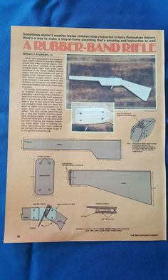 How to build a rubber band rifle poster from 1981 magazine