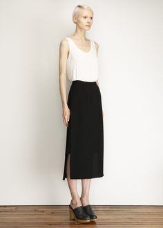 [ the row ]: thomaston tank [ rachel comey ]: warner skirt