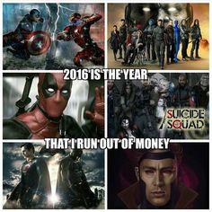 For real... suicide squad, batman v superman, civil war, deadpool xmen apocalypse