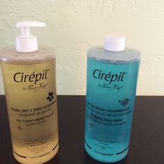 Cirepil: Purifying Blue Lotion. By Perron Rigot-Paris. This Pre/Post lotion with  Organic Cornflower water. Use before waxing to cleanse the skin and after waxing to refresh the skin to remove the slight tingle that waxing leaves behind, your skin will feel cool and fresh.  Cirepil: Pre & Post Depilatory Oil. Use 1 to 2 drops on dry skin before waxing. After waxing apply and massage to nourish, soothe and remove wax residue. Its a great! all over body massage oil with an amazing Jasmine…