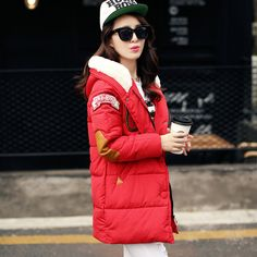 Новый 2016 зимняя куртка женщины Длинные Повседневная Мода Женщины Куртка женский Капюшоном Пальто Марка Куртка Плюс Размер Холодный Теплый пиджаки W003