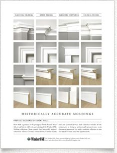 Which kind of molding suits your house best? Check out this chart from WindsorOne, a made-in-the-USA fabricator with a huge selection of historically accurate interior and exterior trim.