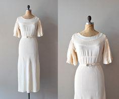 vintage 1930s wedding dress / 30s dress /  Begin The Beguine