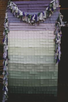 paint chip ceremony backdrop // photo by Lime Green Photography