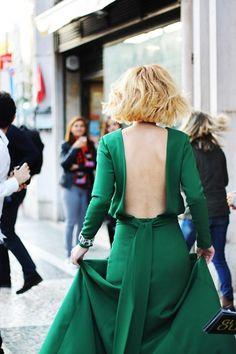 Resultado de imagem para raquel strada vestido verde