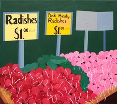 Jonna Pedersen Radishes @ Union Square Green Market 54 x 60 cm