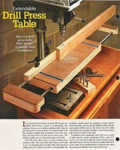 #1985 Extendable Drill Press Table Plan - Drill Press