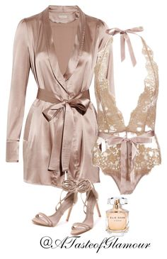 """""""Untitled"""" by leilaallaf ❤ liked on Polyvore featuring Burberry, L'Agent By Agent Provocateur, Schutz and Elie Saab"""