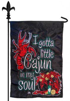 IAmEricas Flags - Crawfish Cajun Soul Double Applique Garden Flag, $18.00 (http://www.iamericasflags.com/products/crawfish-cajun-soul-double-applique-garden-flag.html)
