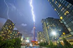 A fun fact: The CN Tower gets hit by lightning an average of 75 times per year. Proving indeed that lightning does strike twice. Photo by dave~