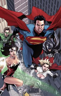 batman-milenec:    Superman and Team Coloredby ~benttibisson