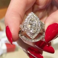 2 Ct Marquise Excellent Sim Diamond 14K White Gold Fn Cluster Engagement Ring