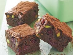 Rich, dense and utterly indulgent, these chocolate brownies made the most perfect dessert of afternoon treat. Swirled with sweet juicy raspberries and crunchy pistachio pieces, they are a flavour and texture sensation that you'll have to try not to gobble up in one go!