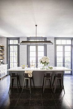 gray kitchen, photo brittany ambridge for domino
