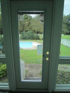 Double fiberglass garden door with built in mini blinds and exterior 32 in energy star double pane fiberglass outswing doors with built in blinds planetlyrics Gallery