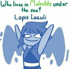 Who (used to) live in Malachite under the sea? Lapis Lazuli (and Jasper)!