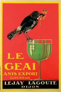 I just love birds. Vintage Wine, Vintage Labels, Vintage Ads, Vintage Posters, Retro Advertising, Vintage Advertisements, Poster Ads, Poster Prints, Fotografia