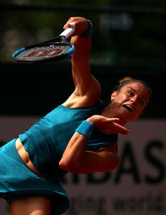 Maria Sakkari Photos - Maria Sakkari of Greece serves during the ladies singles first round match against Mandy Minnela of Luxembourg during day two of the 2018 French Open at Roland Garros on May 2018 in Paris, France. - 2018 French Open - Day Two French Open, First Round, Luxembourg, Paris France, Greece, Lady, Roland Garros, Greece Country