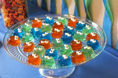 Monster First Birthday Party Monster First Birthday, Monster Birthday Parties, Monster Party, First Birthday Parties, First Birthdays, Happy Birthday, Monster Cup, Mini Muffin Pan, Mini Muffins