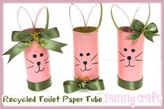 Recycled Toilet Paper Tube Bunny Craft