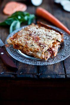 Lasagne aux légumes rôtis & fromage de chèvre frais emiliemurmure.com