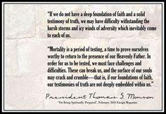 President Monson quote