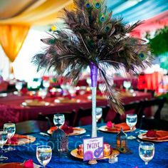 1000 Images About Peacock Feather Centerpieces And More