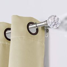 The Decorative Crystal Ball Curtain Rod is 3/4 inch diameter. The telescoping curtain rod can adjust from 48-84 inches to accommodate your window. Great for grommet, back tab, rod pocket and tab top curtains. The set includes 2 set of classic single window rod (Each set included 1 inner rod and 1 outer rod), 3 brackets, 2 finials and hardware. Crafted from durable steel on rods and hardware accessories, and acrylic ball finials. Long-lasting and strong enough that can withstand the heavy… Curtain Brackets, Window Rods, Decorative Curtain Rods, Tab Top Curtains, 2 Set, Rod Pocket, Crystal Ball, Hardware, Strong