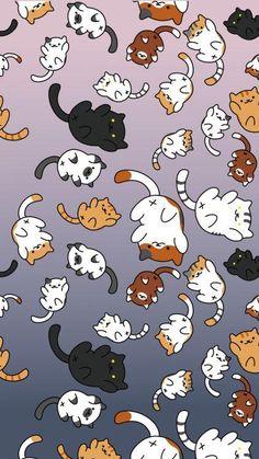 'Neko Atsume' iPhone Case by wazupb - Wallpaper Neko Atsume Wallpaper, Cat Phone Wallpaper, Beste Iphone Wallpaper, Cute Cat Wallpaper, Trendy Wallpaper, Kawaii Wallpaper, Wallpaper Desktop, Wallpaper Ideas, Girl Wallpaper