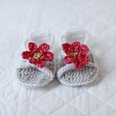 Crochet cotton baby sandals