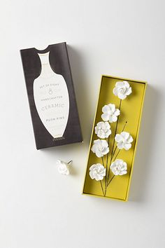 Anthropologie Ceramic Flower Pins - could probably make
