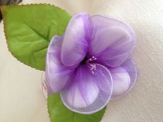 Organza Flower Favour by youcraftymare on Etsy, $9.00